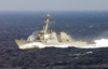 The Guided Missile Destroyer Uss Donald Cook (ddg 75) Underway Conducting Missions In Support Of Operation Enduring Freedom. Image