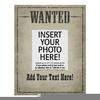 Wanted Frame Clipart Image
