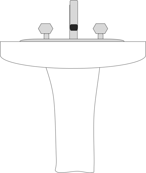 how to draw a bathroom sink sink free images at clker vector clip 25380