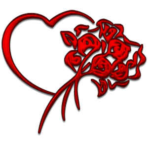 Heart And Flowers   Free Images at Clker.com - vector clip art ...