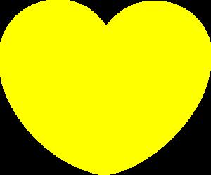Simple Yellow Heart Shape Clip Art at Clker.com - vector ...