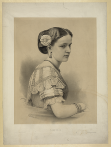 Lady With Flower In Hair Image
