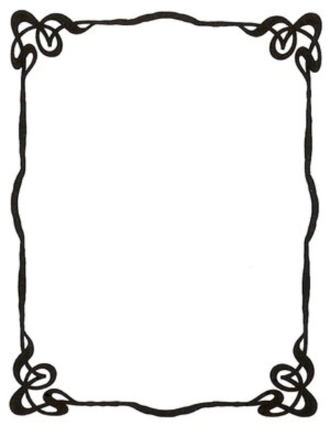 art nouveau ink picture frame by enchantedgal stock