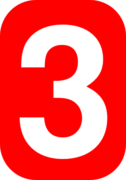 Number Three In Red Clip Art At Clker Com