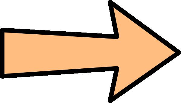 Orange Arrow Without Shadow Clip Art at Clker.com - vector ...
