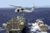 Sh-60 Sea Hawk Supporting Underway Replenishment. Clip Art
