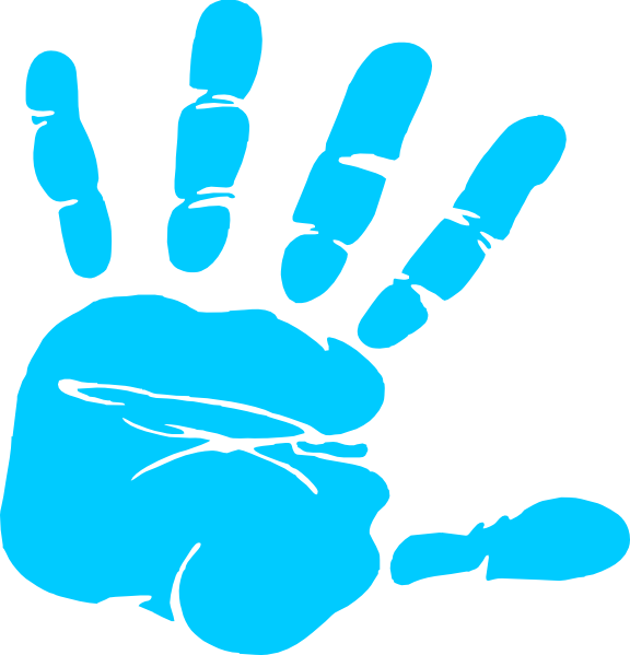 blue hand print clip art at clker com vector clip art handprint vector ai handprint vector free