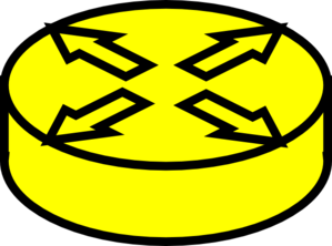 Router Yellow Clip Art