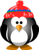 Cute Penguin With Hat Clip Art