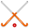Hockey Stick & Ball Clip Art
