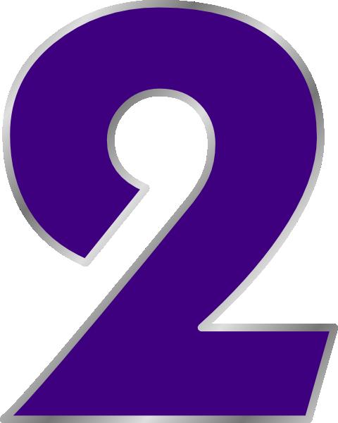 Number Two Clip Art At Clker Com Vector Clip Art Online