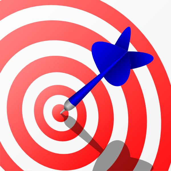 dart board clip art at clker - vector clip art online, royalty