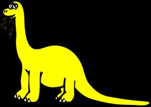 Yellow Cartoon Dinosaur Clip Art at Clker.com - vector ...