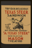 Try Our Delicious Texas Steer Sandwich, Then See The Rip Roaring Comedy  A Texas Steer  Clip Art