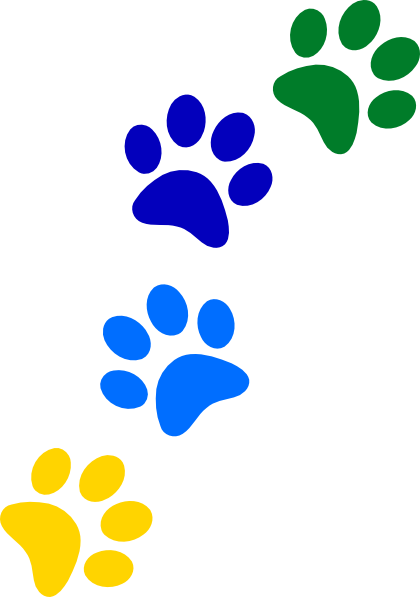 Paw print rainbow. Paws clip art at