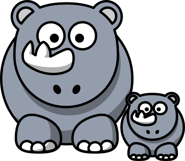 rhino baby clip art at clker - vector clip art online, royalty
