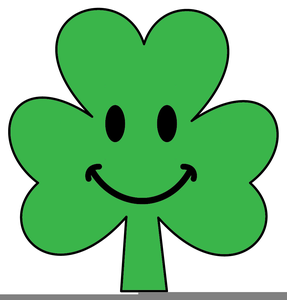 Shamrock With Smiley Face Clipart Image