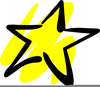 Gold Shooting Star Clipart Image