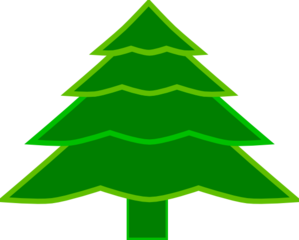 4 Layer Fir Tree Clip Art