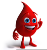 Blood Drop Clipart Image