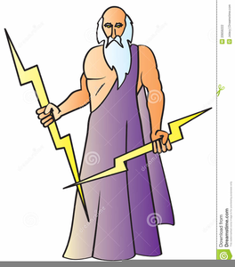 Greek God Zeus Clipart Image