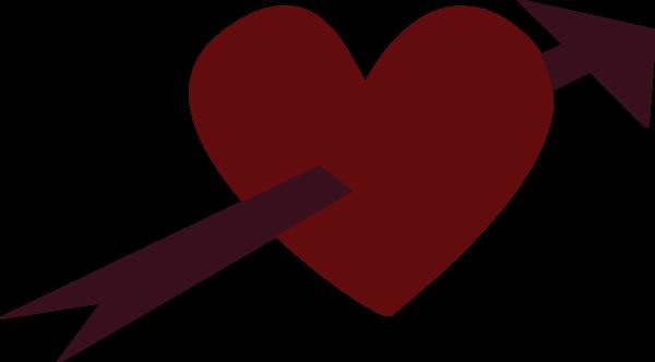 Arrow Through Heart | Free Images at Clker.com - vector ...