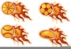 Free Flaming Basketball Clipart Image