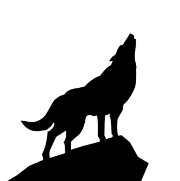 howling wolf silhouette psd | free images at clker - vector