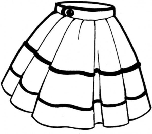 Skirt Clker Vector Clip Art