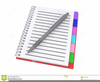 Lined Notebook Paper Clipart Image