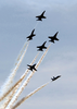 The U.s. Navy Blue Angels Flight Demonstration Team Performs Special Flight Manuvers Image