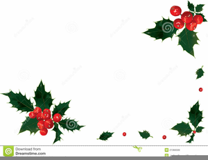 Holly Berry Borders Clipart Image