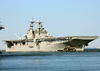 The Amphibious Assault Ship Uss Wasp (lhd 1) Departs Naval Station Norfolk To Avoid Hurricane Isabel. Image