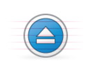 Origami Button Blue Eject | Free Images at Clker com