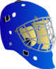 Blue Goalie Mask Clip Art
