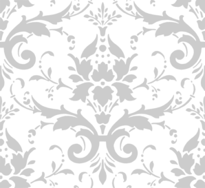 Grey Damask Clip Art At Clker Vector Online Royalty White Wallpaper