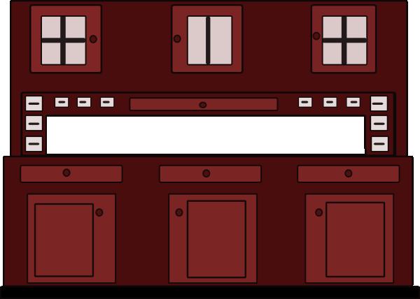 Kitchen Red Cabinet Clip Art at Clker.com - vector clip ...