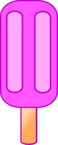Pink 2 Section Popsicle Clip Art