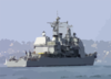 The Guided Missile Cruiser Uss Valley Forge (cg 50), Heads Out Of The San Diego Bay To Begin Their Regularly Scheduled Six-month Deployment. Clip Art
