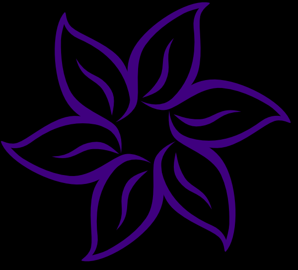 Cool flower clip art at vector clip art online for Cool drawing design ideas