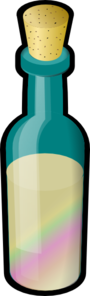 Bottle Of Colored Sand Clip Art