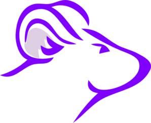Purple Rat2 Clip Art