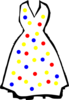 Polka Dots Dress Clip Art