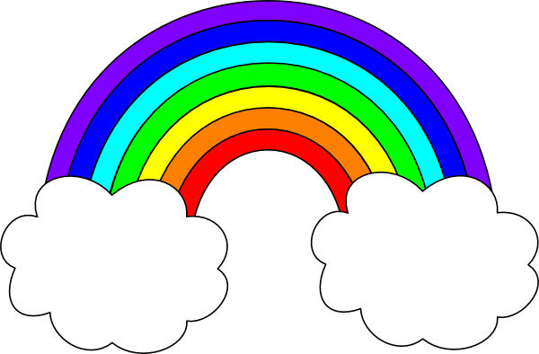 Rainbow With Clouds Clip Art At Clker.com
