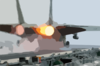 After Burners On An F-14 Tomcat Fire As The Aircraft Makes A Cataputl Launch. Clip Art