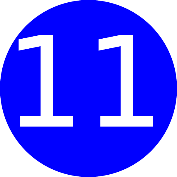 Number 11 Blue Background Clip Art at Clker.com - vector ...