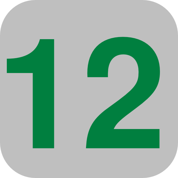 Number 12 Grey Flat Icon Clip Art At Clker Com