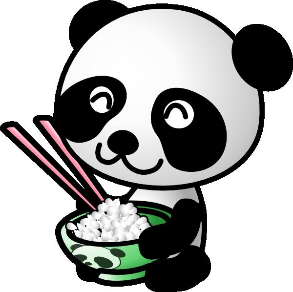 panda eating rice clip art at clker com vector clip art online rh clker com cute panda face clipart cute panda clipart images