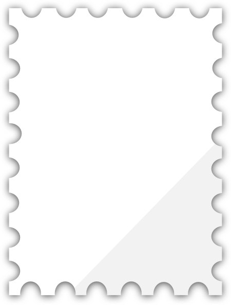 Postage Stamp Clip Art Black And White Blank Postage S...
