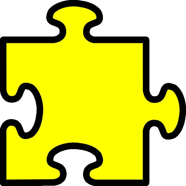 yellow puzzle piece clip art at clker com vector clip art online rh clker com puzzle piece clip art with no background puzzle piece clipart free